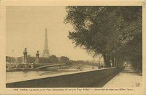 La Seine et le Pont Alexandre III vers la Tour Eiffel | Potonniee