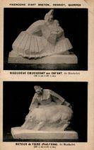 BIGOUDENE EMBRASSANT son ENFANT, de Bachelet (36 cm X 28 cm) RETOUR de FOIRE (Pont-l'Abbé), de Bachelet (29 cm X 23 cm) |