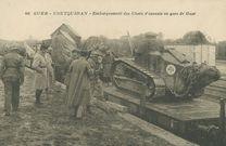 Embarquement des Chars d'assauts en gare de Guer |