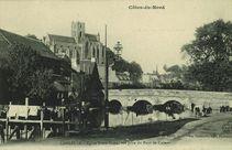Eglise Notre-Dame, vue prise du Pont de Calmet | A.b et Cie Nancy