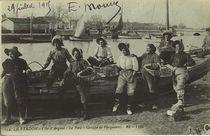 Le Verdon - Le Port - Groupe de parqueuses |