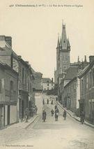 La Rue de la Mairie et l'Eglise  