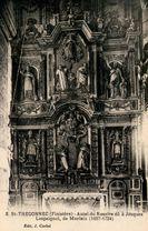 St-THEGONNEC (Finistère) - Autel du Rosaire dû à Jacques Lespaignol, de Morlaix (1697-1724) |