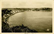 Vue panoramique de Binic par grande marée |