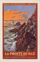 LA POINTE DU RAZ (FINISTERE). CIRCUITS AUTOMOBILES AU DEPART DE QUIMPER. Eperon de rochers, grandiose et sauvage, constamment battu par les flots, à l'extrême avancée du Finistère. |