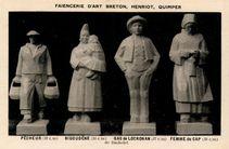 PECHEUR (32 cm), BIGOUDENE (34 cm), GAS de LOCRONAN (37 cm), FEMME du CAP (38 cm) de Bachelet |