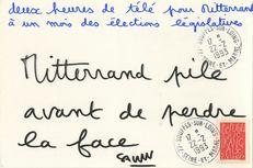 deux heures de télé pour Mitterrand à un mois des élections législatives | Savon