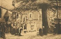 Sortie de Procession, Pardon de St-Gonéry (Trégor) d'après le tableau d'E. Bouillé | Bouille Etienne