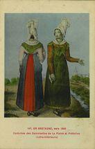 Vers 1840. Costumes et Coiffes de La Plaine et de Préfailles |