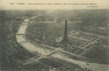 Panorama de la Tour Eiffel et du Trocadéro pris en ballon | Hauser J.