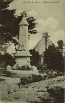 Le Square de l'Eglise et le Calvaire  