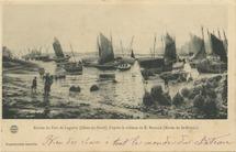 Entrée du Port de Loguivy (Côtes-du-Nord), d'après le tableau de E. BOUILLE (Musée de St-Brieuc) | Bouille Etienne