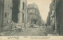 Une rue après le bombardement  