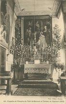 chapelle de l'Hospice du Petit St-Bernard et Tableau de Capisani (1859) | Pittier