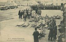 Blessés Allemands arrivant à Belle-Ile-en-Mer |