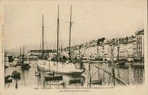 Vue Générale du Quai Cronstadt construit en 1606 aux Frais des particuliers | Bougault A.