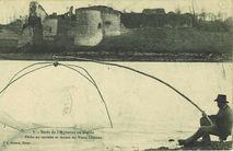 Bords de l'Arguenon au Guildo. Pêche au carrelet et ruines du Vieux Château |